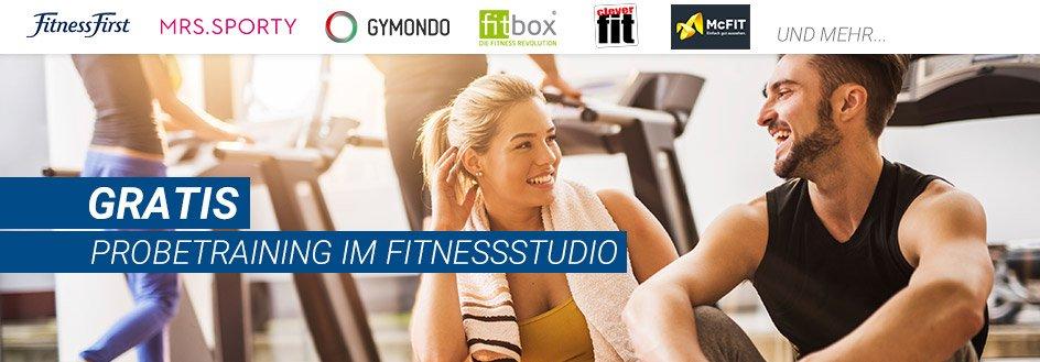 GRATIS Probetraining in Fitnessstudios: Jetzt kostenlos anmelden!