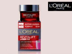 10.000 Gratisproben L'Oréal Paris Revitalift Laser X3 (15ml)