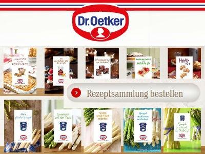 Gratis: Dr. Oetker Rezeptsammlung
