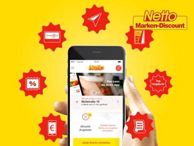 Angebote, Coupons und Gutscheine in der Netto-App!
