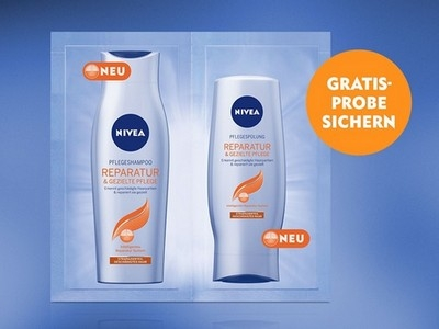 Gratis anfordern: Shampoo und Spülung von Nivea