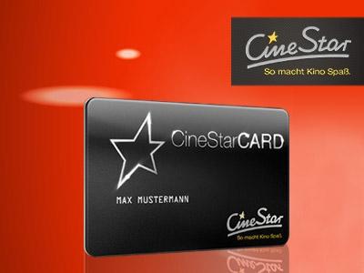 CineStarCARD gratis sichern & Punkte für Prämien sammeln!