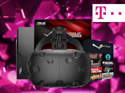 Asus-Bildschirm, Gaming-PC und mehr bei Telekom gewinnen!
