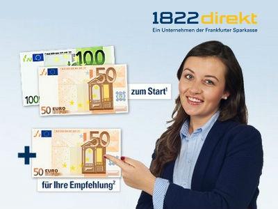1822direkt: Jetzt 200€ Prämie zum Girokonto!